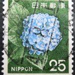 旧アジサイ25円櫛型印初期