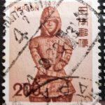 埴輪兵士茶の外国着印